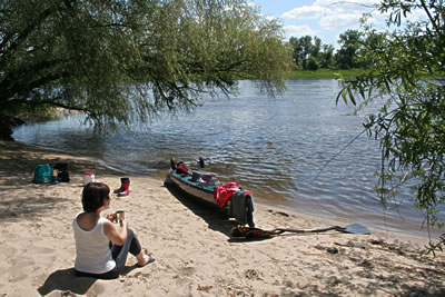 Paddeln Auf Der Elbe Km 262 351